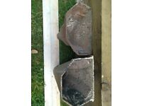 Vintage Cast Iron Hoppers / lovely for wall plant pots