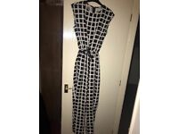 GLAMOROUS black and white checked jumpsuit size 8