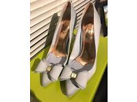 Ted Baker Bow Court Shoes- UK5- Blue