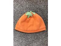 Baby pumpkin hat Age 3/6 months