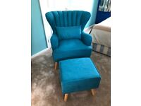 BRAND NEW Harden wingback chair and footstool - £180