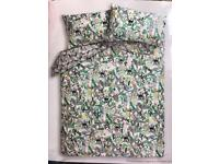 BRAND NEW GEORGE HOME EASY CARE JUNGLE PRINT DOUBLE DUVET SET