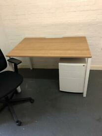 Desk, Chair and Pedestal Bundle