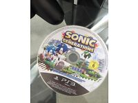 Sony PS3 80GB version with 1 Sony Controller and Sonic Generations CD