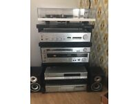 Music station and music organisation, Lp's Cds, all Technics equipment and Rega Turntable.