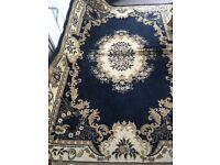 Blue large rug