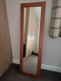 Full Length Mirror in Pine - Excellent Condition