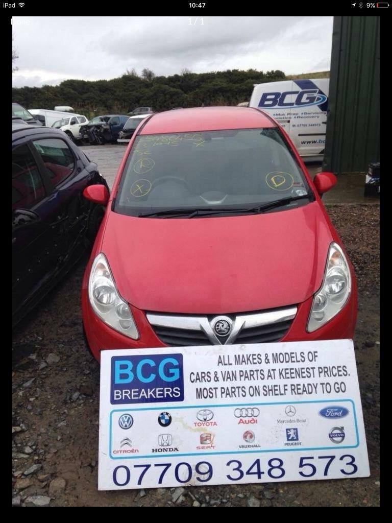 2010 Vauxhall corsa parts breaking bcg