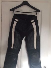 Frank Thomas Ladies Rider Leather Trousers, Size 8