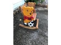 Winnie the Pooh child's wooden rocking chair