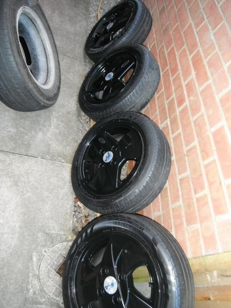 Set  Ltd Edition  Inch Pcd Ford Ka Alloysc W Centresc W Badgesc W Tyres