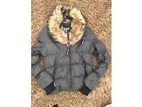 Superdry Women's Grey Padded Coat - Size Large