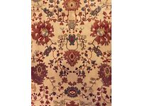 Beautiful handmade authentic Moroccan wool rug 5.7ft x 8ft - beige, red, green - stunning design