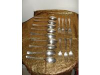 Quality Silverplated/Electroplated Table Spoons and Forks