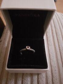 Pandora love heart ring size 52