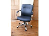 Warner Faux Leather Swivel Chair with rollers. A QUALITY John Lewis product