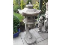 Large stone garden Chinese pagoda lantern