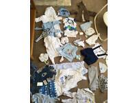 Newborn and 0-3 months boys clothes bundle