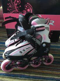 SFR Vortex Adjustable Inline Skates, Roller Skates, Pink