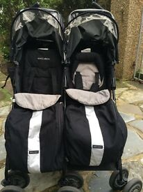 Maclaren techno twin double stroller buggy