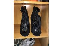 Black stiletto boots size 8