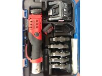 Novopress Geberit Aco 202 Mapress Crimper Kit 18V Battery Good Cond