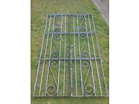 Pair of soild galvanized metal gates 4ft X 6ft 8.5inch or 122cm X 203cm