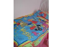 Tweenies Reversible Single Duvet Cover with matching Pillow Case