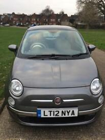 Fiat 500 lounge grey 2012 low mileage 18000 fitted with blue tooth air con and alloy wheels