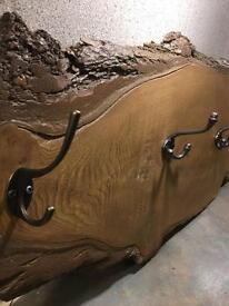 Reclaimed wood hanger
