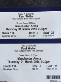 2 Paul Weller tickets Manchester Arena
