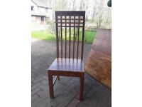 6 x Solid wood dining chairs and table. Charles Rennie Macintosh inspired! £50