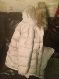 Girls gold winter coat ZARA 9-10yrs (worn handful of times)