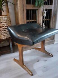 Austinsuite vintage mid century black footstool