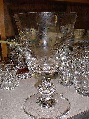 Tall Signed VAL ST LAMBERT Stemmed Pedestal Footed Vase - MINT