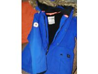 Boys winter jacket age 8/9 colour : royal blue good condition bought from Matalan £5