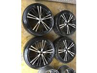 "18"" VOLKSWAGEN R32 ALLOY WHEELS MK4 GOLF BORA CELICA BETTLE TT SET OF 4"