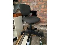 Grey computer chair