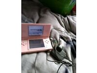 Pink DS with one game but sorry no sticks to go with them
