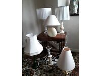 Six individual table lamps