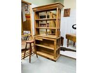 Fabulous antique pitch pine two sided bar originally from a castle in Welshpool
