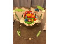 Jumperoo rainforest, barely used from smoke and pet free home