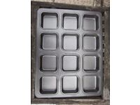 12 Hole Square Non Stick Muffin Tray IP1