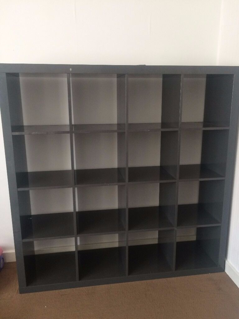 Ikea Kallax Expedit High Gloss Grey Shelf In Finchley