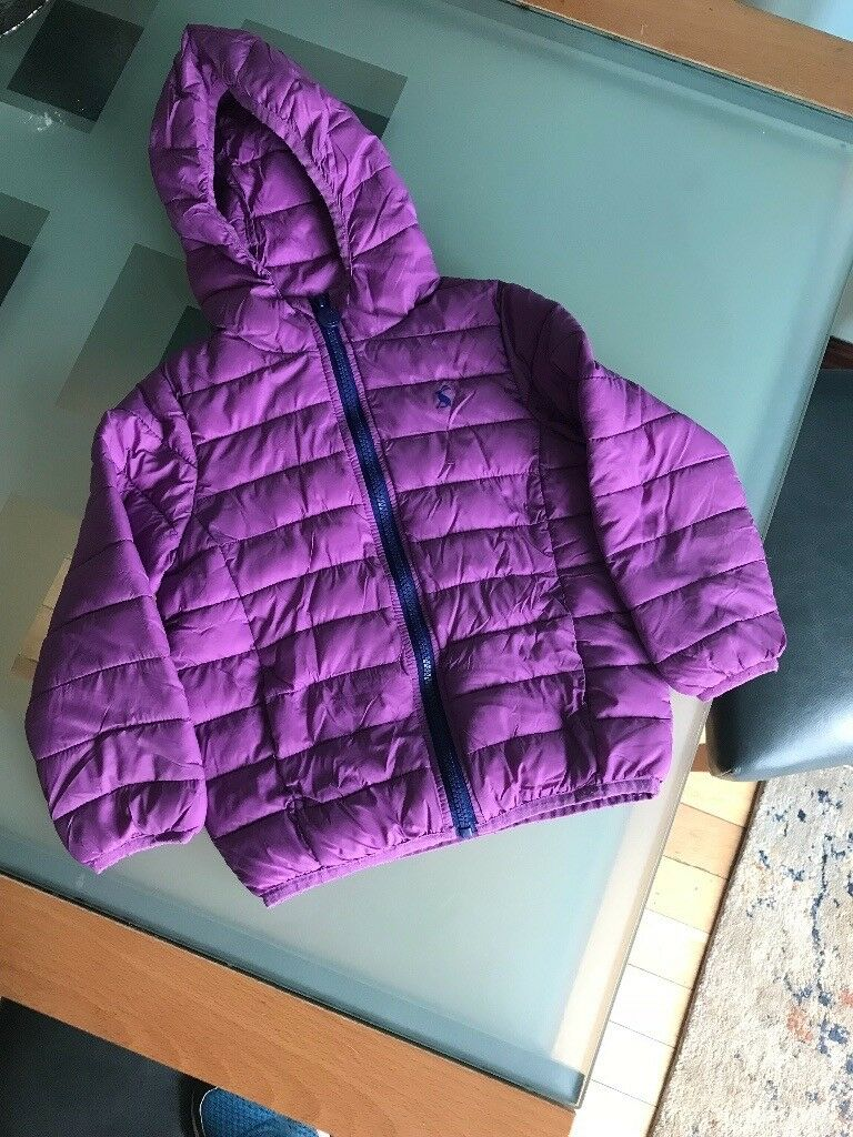 Joules girls age 4 light weight lilac coat