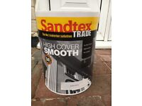 7x sandtex trade high cover smooth 5L WHITE PAINT