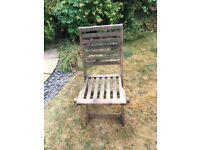 Wooden garden chairs x4