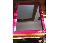 Up cycled mirror decoupage