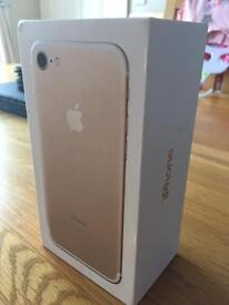 Mint condition iPhone 7 32gb in gold on Vodafone