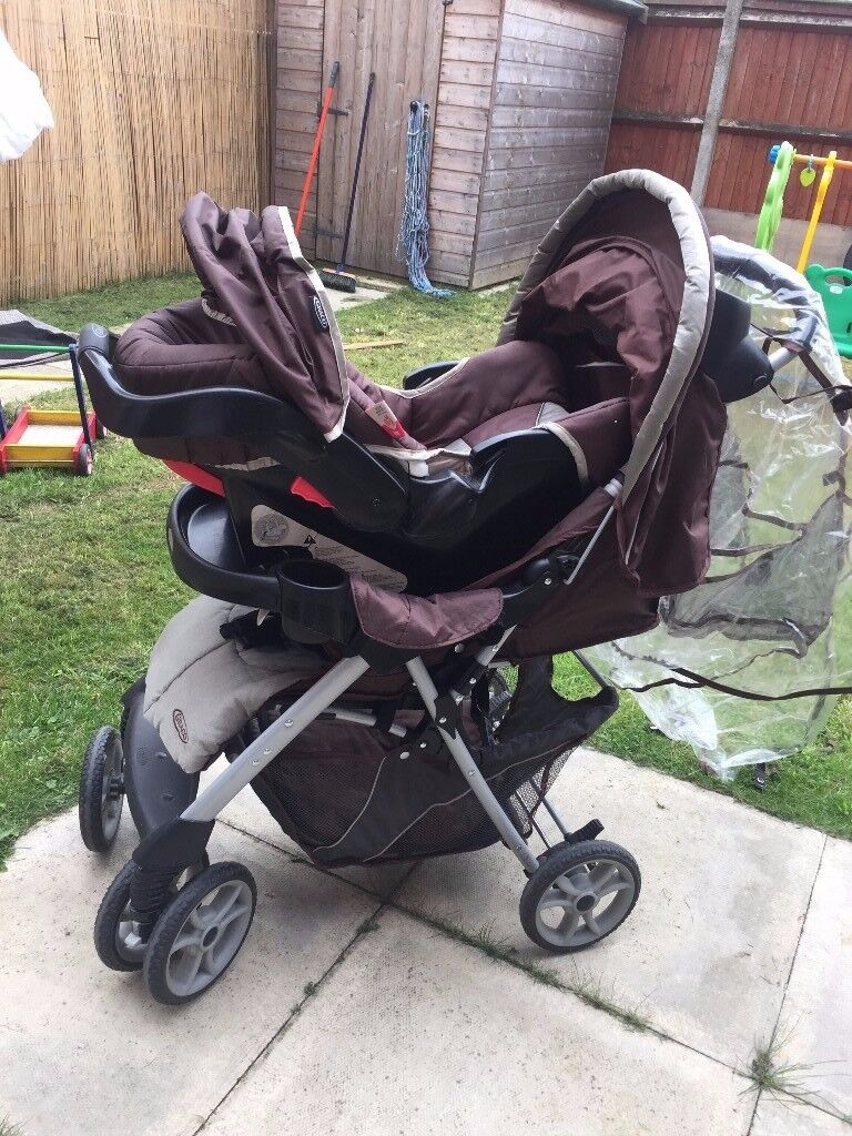 Graco Pram/Push chair with baby car set